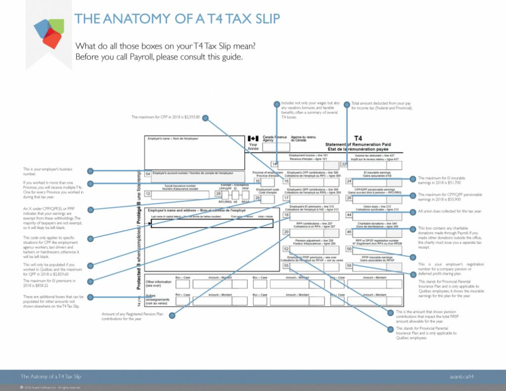 How to Read Your T4 Tax Slip: Canadian Payroll Year-End